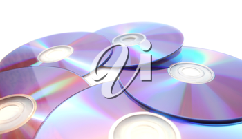 Royalty Free Photo of Five Compact Discs