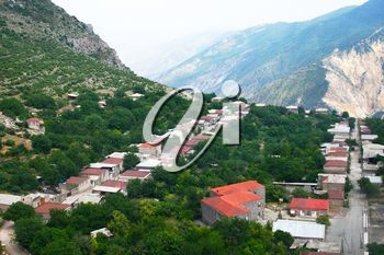 Royalty Free Photo of the Mountain Village Halidzor, Armenia