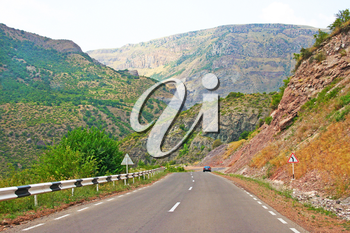 Royalty Free Photo of a Mountain Road in Armenia