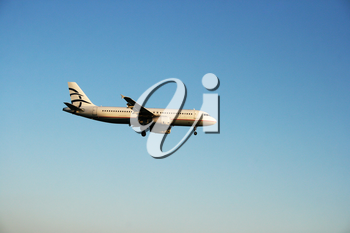 Royalty Free Photo of an Airplane in the Sky