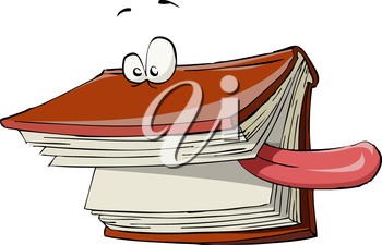 Royalty Free Clipart Image of a Silly Book