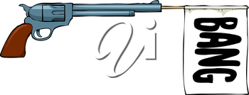 Royalty Free Clipart Image of a Toy Gun