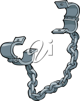 Royalty Free Clipart Image of Shackles