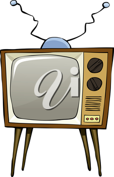 TV on a white background, vector illustration