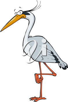 Royalty Free Clipart Image of a Heron