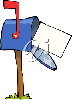 Mailbox on a white background vector illustration