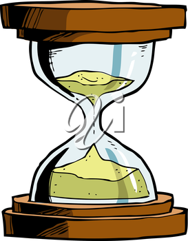 Hourglass on a white background vector illustration