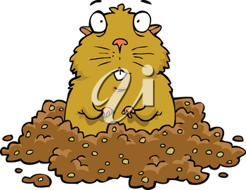 Cartoon doodle gopher on a white background vector illustration