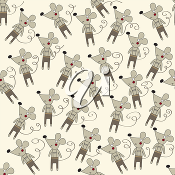 seamless pattern with mice, vector format