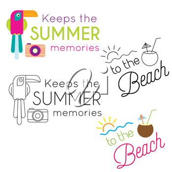 Summer holiday poster collection. Vector
