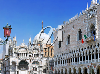 The Doge's Palace and Cathedral of San Marco, Venice, Italy