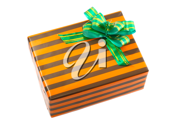 Pile of Christmas and New Year gift boxes. Isolated over white background