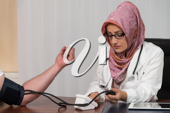 Blood Pressure Measuring - Doctor And Patient