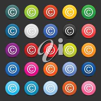 Royalty Free Clipart Image of Copyright Icons