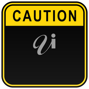 Royalty Free Clipart Image of a Caution Sign