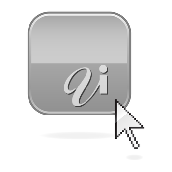 Royalty Free Clipart Image of a Cursor and Square Icon