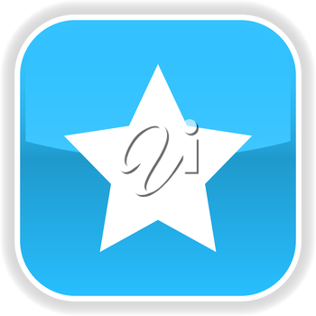 Royalty Free Clipart Image of a Star Icon