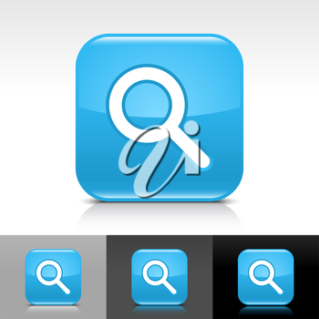 Royalty Free Clipart Image of a Set of Search Icons