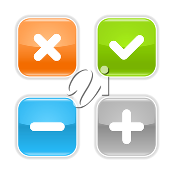 Royalty Free Clipart Image of Four Math Icons