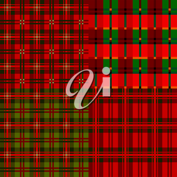Set plaid patterns, tartan, vector