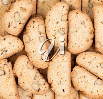 Close up of freshly baked cookies in filled frame format.