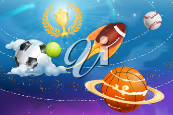 Sport universe, vector background
