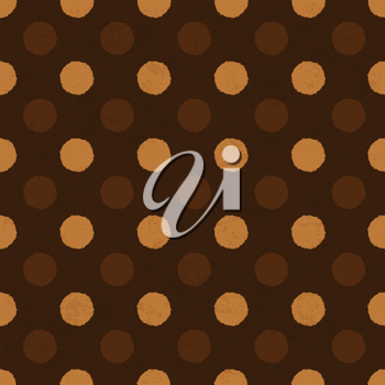 Coffee dot seamless background, vector, EPS10.