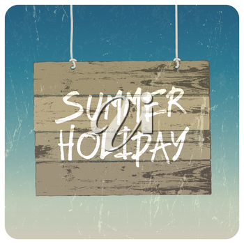 Summer holiday poster. Vector