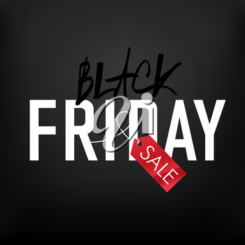Black Friday sales Advertising Poster on Black mesh background. New and Clear.