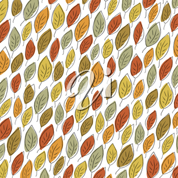 Autumn fallen leaves pattern. Element for holiday greeting cards designs
