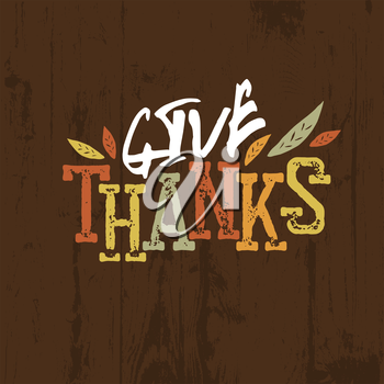 Happy Thanksgiving design. For holiday greeting cards designs