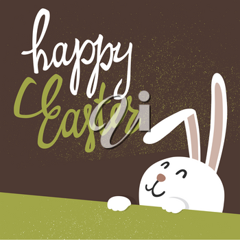 Happy Easter greeting card. Easter Bunny.