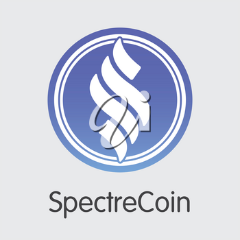 Spectrecoin Blockchain Illustration. Blockchain, Block Distribution XSPEC Transaction Icon