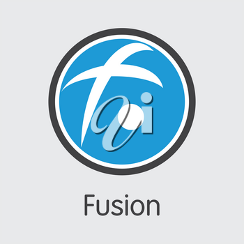 FSN - Fusion. The Logo or Emblem of Virtual Currency, Market Emblem, ICOs Coins and Tokens Icon.