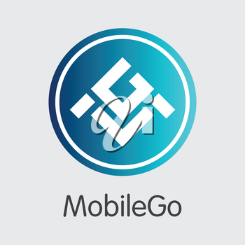 Mobilego MGO . - Vector Icon of Cryptographic Currency.