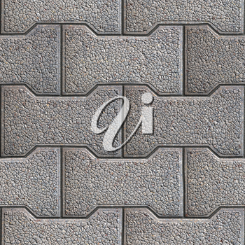 Gray Figured Paving Slabs. Seamless Tileable Texture.