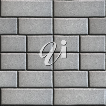 Gray Paving Slabs in the Form Rectangles of Different Value. Seamless Tileable Texture.