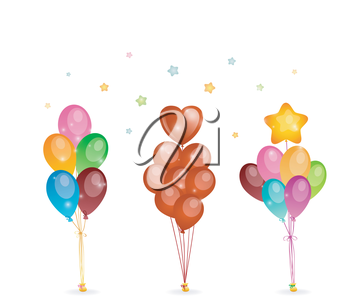 Vector illustration of Background with colored balloons