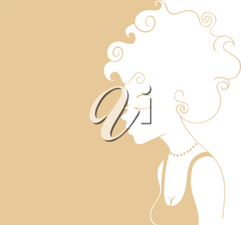 Vector illustration of Beautiful woman pic