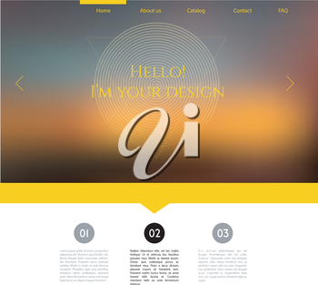 Vector illustration (eps 10) of Blurred web design template
