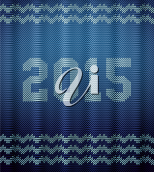 Vector illustration of Knitted texture 2015 background