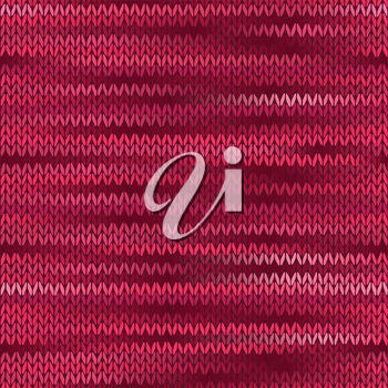 Style Seamless Knitted Melange Pattern. Red Color Vector Illustration