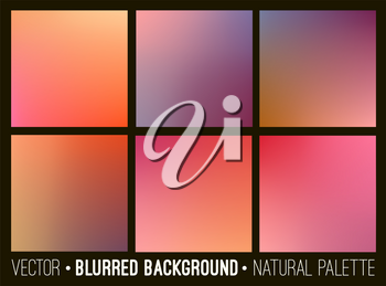 Blurred abstract backgrounds set. Smooth template design for creative decor covers, banners and websites