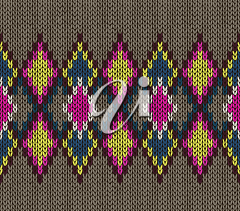 Seamless Knitted Pattern. Fashionable youth modern style.