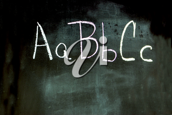 Royalty Free Photo of ABC on a Blackboard