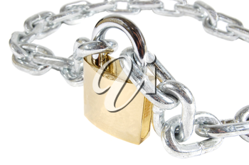 Royalty Free Photo of a Padlock and Chain