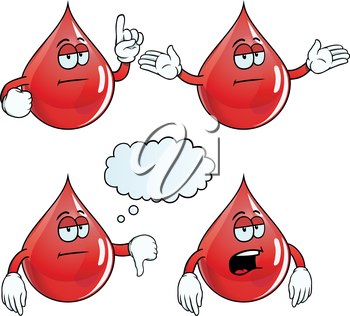 Royalty Free Clipart Image of Bored Blood
