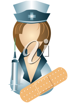 Royalty Free Clipart Image of a Nurse Avatar