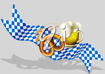 Oktoberfest background with beer  and banner