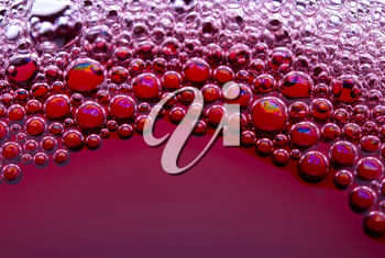 Royalty Free Photo of Red Wine Bubbles